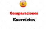 Comparações Exercícios: superioridade, inferioridade ou igualdade