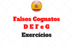 Falsos Cognatos letras D E F e G : Atividades
