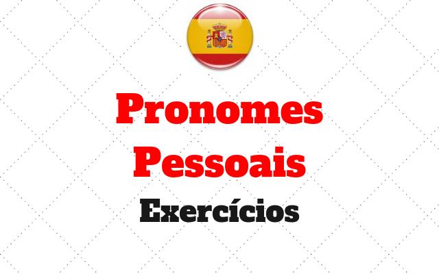 Pronomes Pessoais exercicios