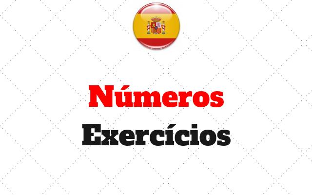 números exercícios