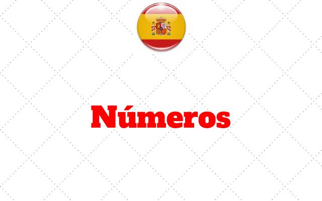 números no espanhol