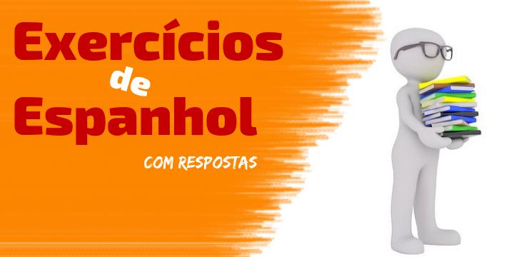 exercícios de espanhol
