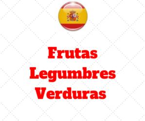 Comprar Frutas Legumbres Verduras – Vocabulário Intermediário II