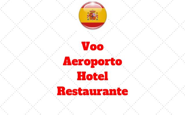 vocabulario Voo Aeroporto Hotel Restaurante