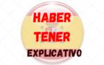 Los verbos HABER y TENER